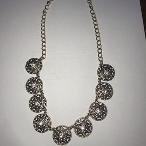 J Crew gold and diamond necklace